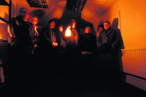 This Is Wiltshire: Chris Franklin, with lantern, and ghost investigators