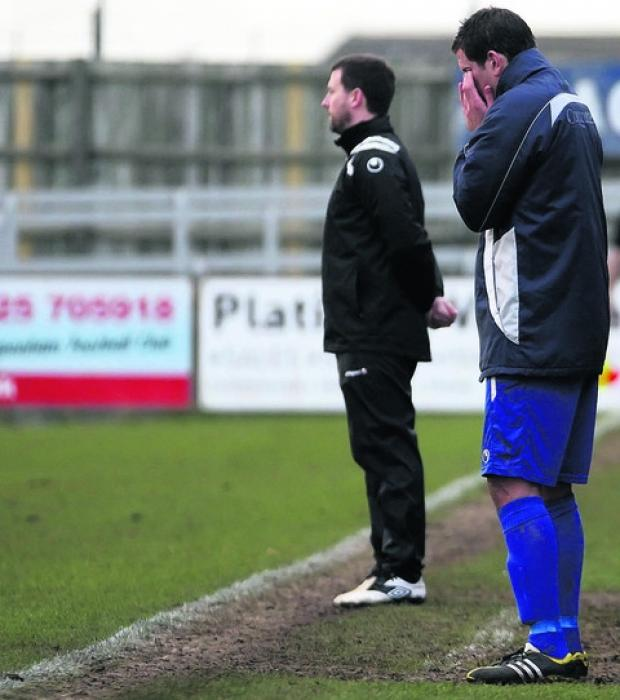 This Is Wiltshire: Saturday's defeat to Redditch United makes for tough viewing for Nathan Rudge
