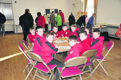 This Is Wiltshire: Schoolchildren who were invited to the public consultation on the potential Highworth Sporting Hub development