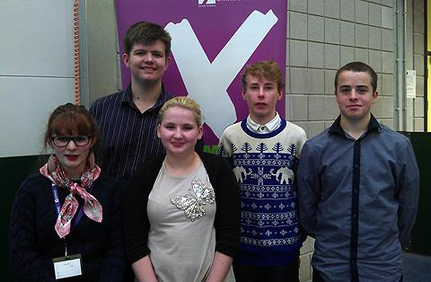 This Is Wiltshire: From left, Ellie Pullen, Charles McGrath, Jordan Green, Aodhan Burnell and Kieran Mulvaney
