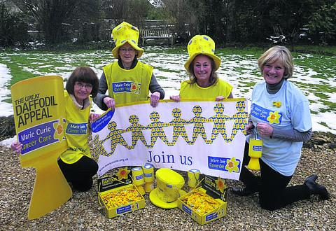 This Is Wiltshire: Celebrating the launch of the new Marie Curie Cancer Care fundraising group are Susy Lenihan, Caroline Fremantle, Anne Orchard and Anne Sherwin