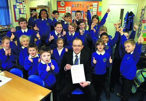 Head teacher Sheridan Upton is pleased with the Ofsted report