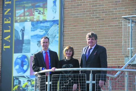 This Is Wiltshire: Abbeyfield head teacher David Nicholson, chair of governors Michele Blain, and co-founder of The Education Fellowship Johnson Kane