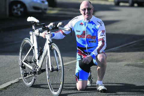 Martyn Matthews prepares for his triathlon