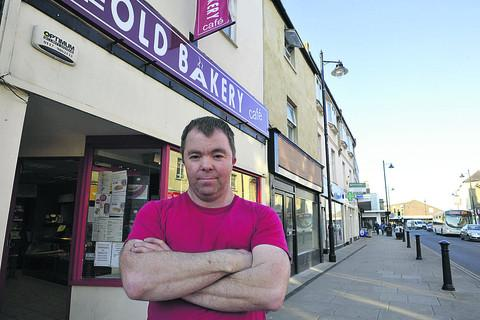 This Is Wiltshire: Jamie Nicholls, of The Old Bakery Coffee Shop, says he and other traders will oppose plans for a Costa Coffee in Melksham High Street