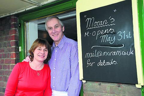 This Is Wiltshire: Dalla and Steve Moran are looking forward to re-opening