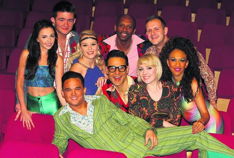 This Is Wiltshire: Gareth Gates and fellow performers in Boogie Nights