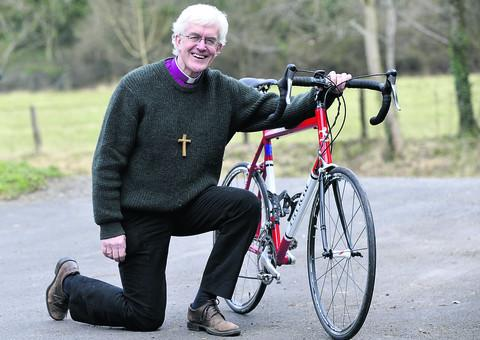 This Is Wiltshire: The Rt Rev Edward Condry prepares for his 172-mile cycle to raise money for Christian Aid