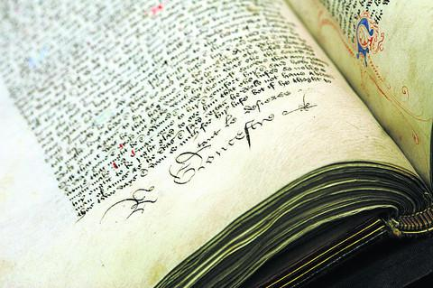 This Is Wiltshire: The book containing the signature of Richard III