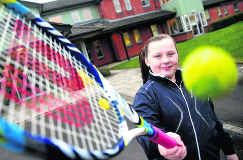 This Is Wiltshire: Zara Holland has raised money for two local charities by playing tennis