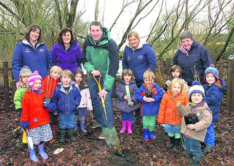 Green-fingered children learnt about the importance of looking after the environment