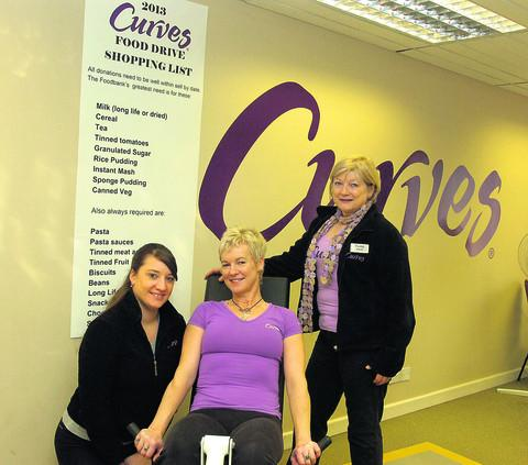 This Is Wiltshire: Sara Jane Rutherford, Faye Ireland and Ros Ambler at Curves