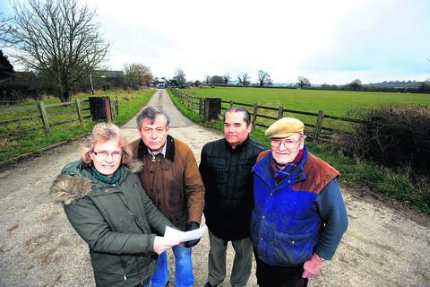 This Is Wiltshire: Felicity Reynolds, Tim Reynolds, Geoffrey Conway and Dick Gibbs oppose plans for a lagoon