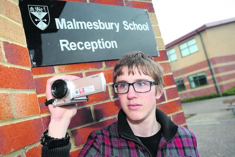 Malmesbury School student Christian Nickson, whose video will promote the Zom-B City book