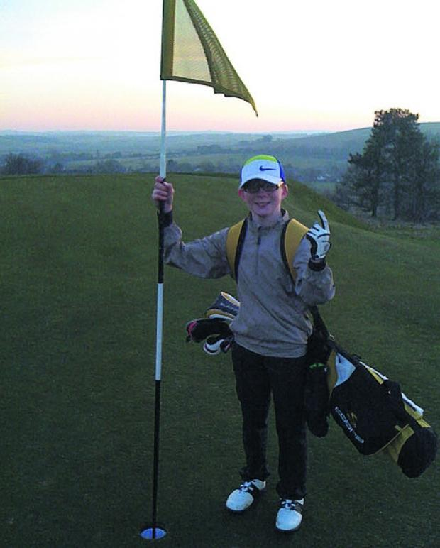 This Is Wiltshire: Charlie Webb celebrates his hole-in-one