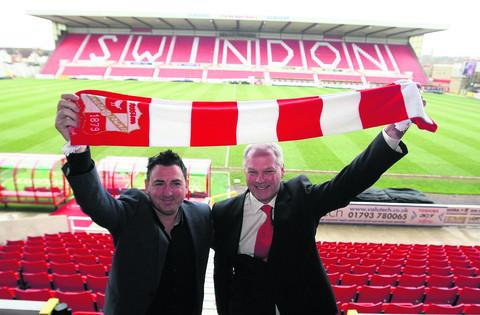 Kevin MacDonald, right, is unveiled as the new boss at the County Ground yesterday, with chairman Jed McCrory
