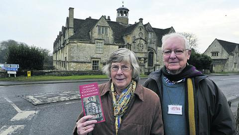 Guides Peter and Marian King at the Corsham Almshouses  Photo: Glenn Phillips (39917-1)