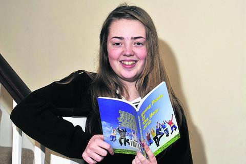 Emily Lawrence sees her poems in the Young Poets of the Year anthology