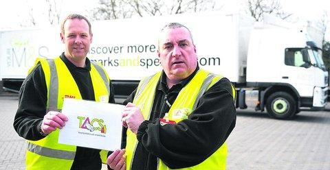 Lorry drivers Paul Strevens, left, and John Bell