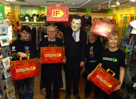 Julie Walker, Terry Read, Matt Hughes as George Osbourne and shop manager Fran Dunn
