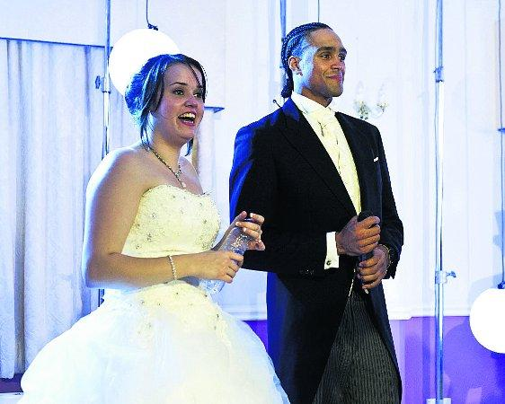 STUNNED Bride Amy with Diversity's Ashley Banjo