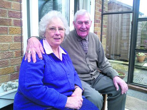 Iris and Bernard Neate, who are celebrating 60 years of marriage