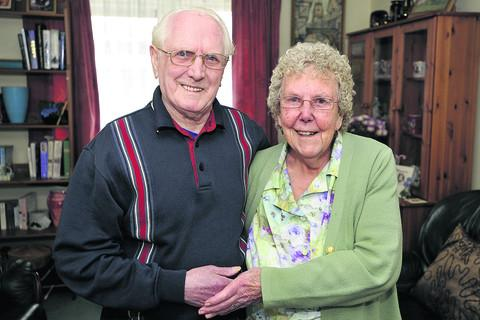 This Is Wiltshire: Jack and Josie McMillan celebrating their diamond wedding anniversary