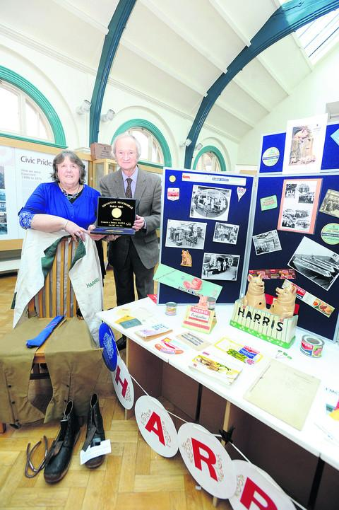 Sue Boddington, trustee and chairman of the Friends of Calne Heritage Centre, and David Harris, son of a former employee.
