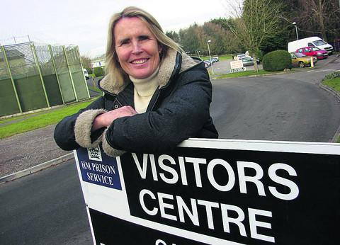Barnardo's volunteer Sophie Stanley outside the HMP Erlestoke visitor centre