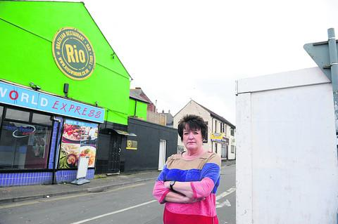Antoinette Kerrigan, of Byron's Bar, at the bottom of Victoria Road