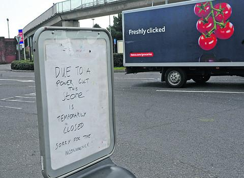 A sign at the Tesco store today