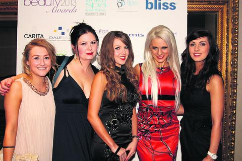 Salon team India Poole, Yvonne Lockhart, Natasha Cooper, Michelle Williams and Ellie Hoare