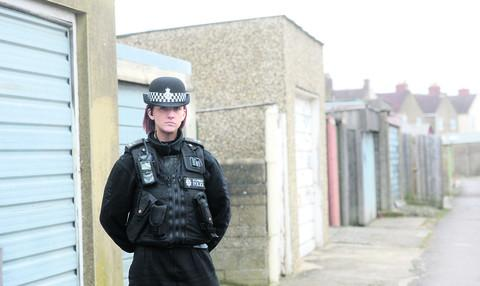 PC Stacey McGarry, community beat officer for Gorse Hill, has been inolved in the operation to reduce garage break-ins