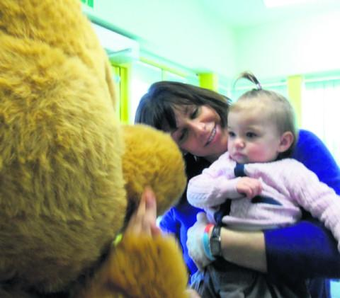 Devizes MP Claire Perry during a visit to a Wiltshire children's centre run by national charity 4Children