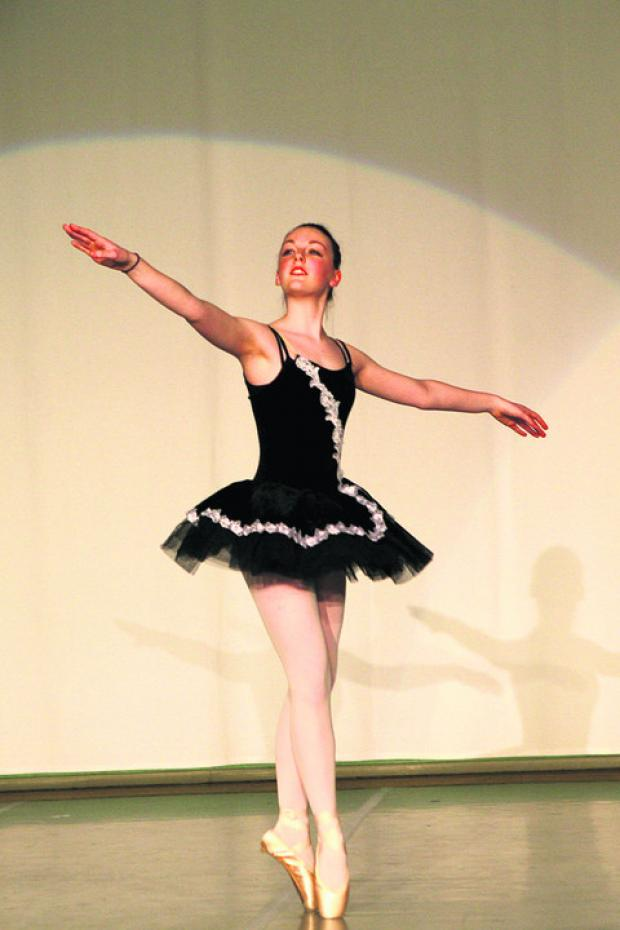 This Is Wiltshire: Lydia Robinson took part in the Hardenhuish dance show