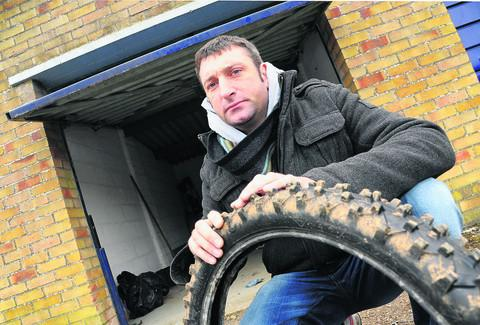 This Is Wiltshire: Richard Cowley's motocross bikes were stolen from his lock-up garage off Haydon View Road