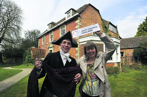 This Is Wiltshire: Curator Claire Lyall and education officer David Birks celebrating the grant