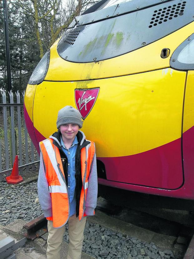 This Is Wiltshire: Harry Kemp, who has suffered from leukaemia, got his wish to travel in the cab of a high-speed Virgin train thanks to the Make A Wish Foundation