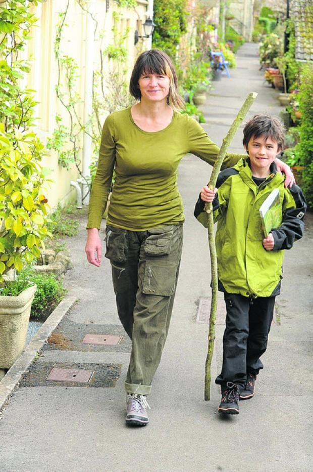 This Is Wiltshire: Misha with mother Sasha in training for their Offa's Dyke walk to help Link Ethiopia