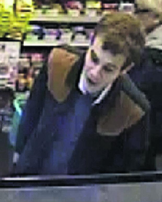 This Is Wiltshire: The CCTV still of a man police believe might hold vital infomation to the theft