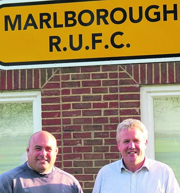This Is Wiltshire: Chris Budgen (left) with Marlborough RFC chairman Gary Sharp