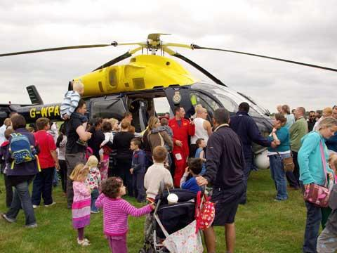 This Is Wiltshire: Visitors examine Wiltshire Air Ambulance at last year's Emergency Services Show