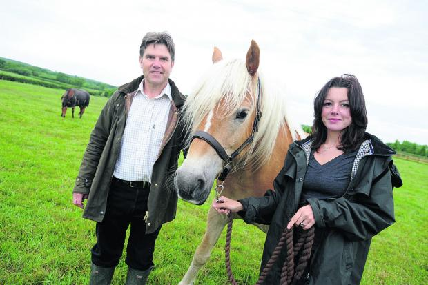 This Is Wiltshire: John McDonald and Jo Sharpe with Attie the horse