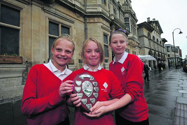 This Is Wiltshire: Walwayne Court contest winners Gwen Newbury, Maddy Youngs