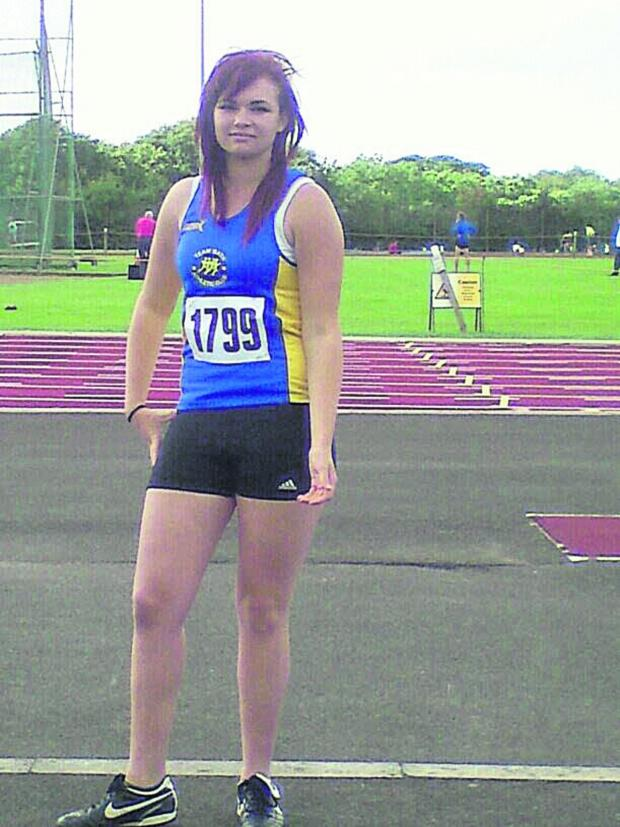 This Is Wiltshire: Matravers School pupil Ellie-J Webb won silver and bronze in the discus and hammer