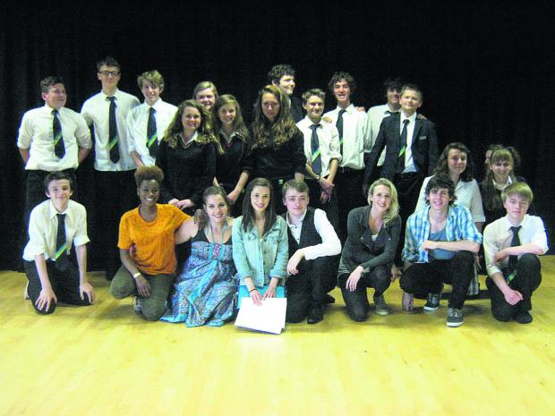 This Is Wiltshire: Students from the Central School of Speech and Drama with St John's Year 10 students