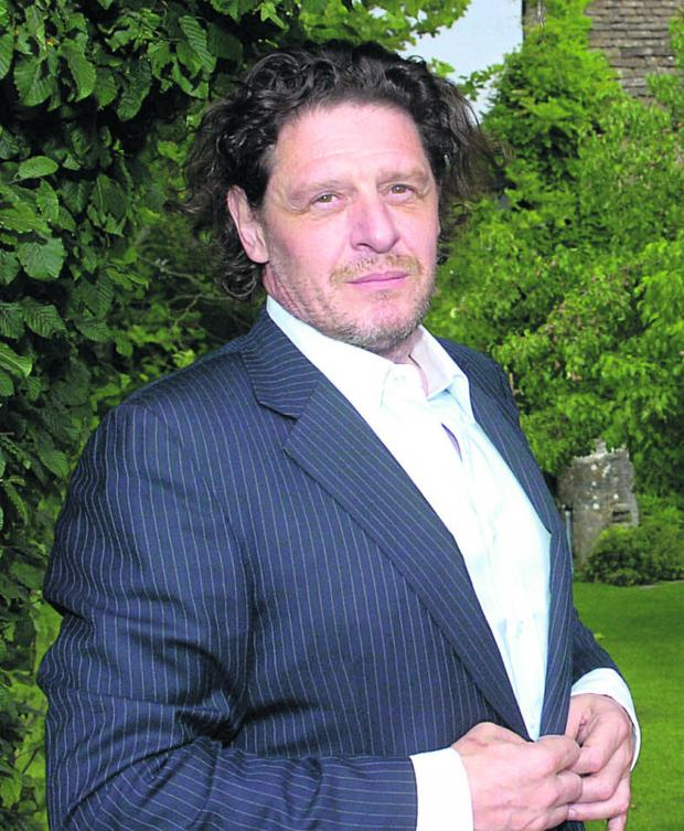 This Is Wiltshire: Marco Pierre White in the grounds of the Pear Tree at Whitley. Picture by Trevor Porter