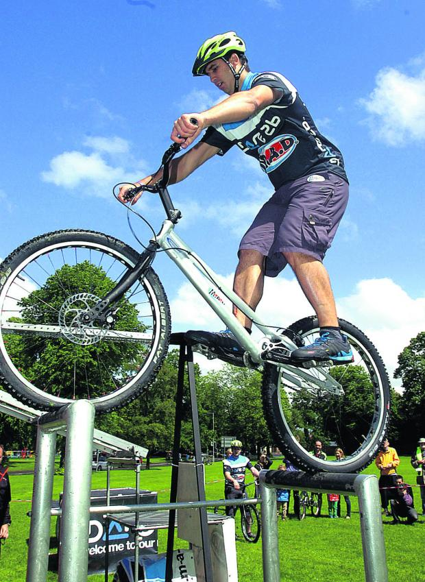 This Is Wiltshire: Paul Turner from the MAD display team at Devizes Cycle on the Green