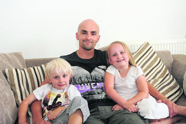 This Is Wiltshire: Mike Adams with children Olivia and Mar