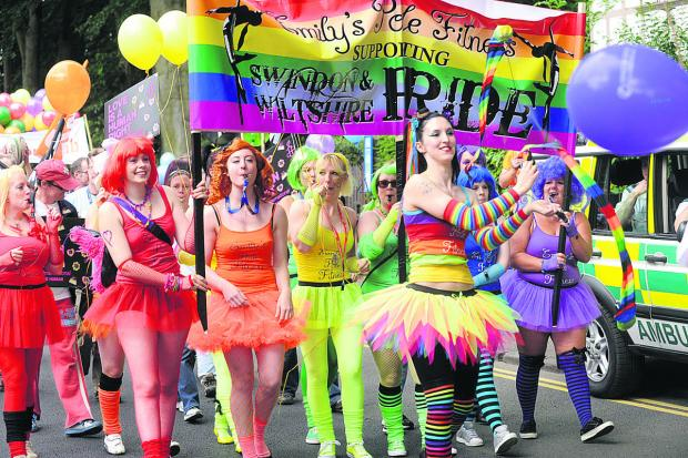 This Is Wiltshire: Last year's Swindon Pride parade